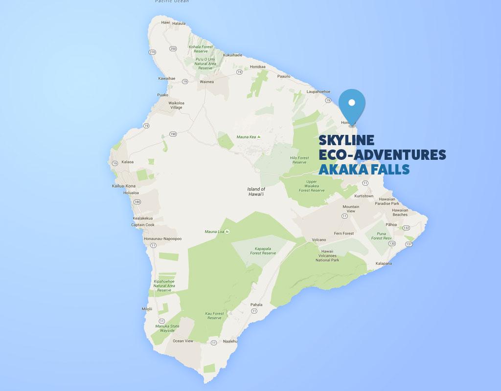 Big island zipline tour in akaka falls hawaii zipline google map of kauai gumiabroncs Images